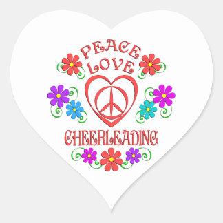 Adesivo Coração Cheerleading do amor da paz