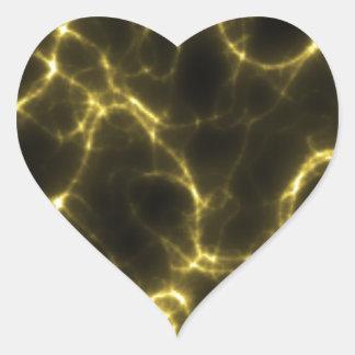 Adesivo Coração Choque eléctrico no amarelo