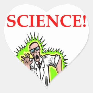 Adesivo Coração cientista louco