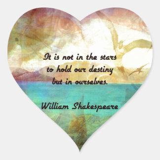 Adesivo Coração Citações inspiradas de Shakespeare sobre o destino