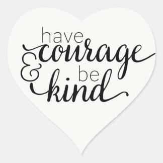Adesivo Coração Citações inspiradores da vida da coragem da