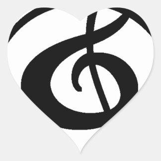 Adesivo Coração Clef de triplo