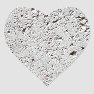 Adesivo Coração Close up fóssil da superfície do azulejo da