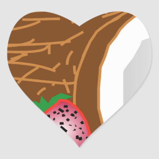 Adesivo Coração Cocos tropicais do quivi