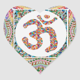 Adesivo Coração Coleção da jóia da mantra do OM