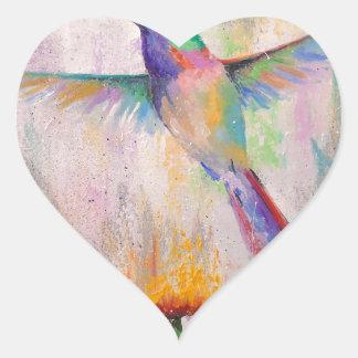 Adesivo Coração Colibri do vôo