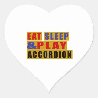 Adesivo Coração Coma o ACORDEÃO do sono e do jogo