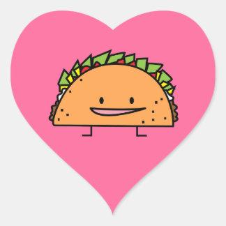 Adesivo Coração Comida feliz do mexicano da salsa da carne da