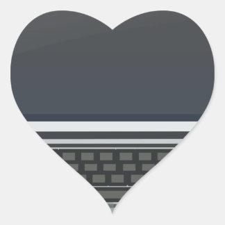 Adesivo Coração Computador