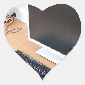 Adesivo Coração Computador de secretária na classe do computador