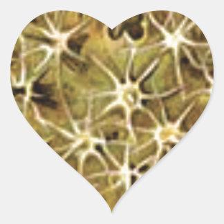 Adesivo Coração conexões do cérebro visualizadas