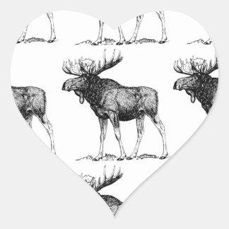 Adesivo Coração confusão dos alces
