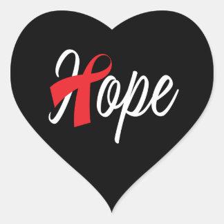 Adesivo Coração Consciência vermelha da fita da saúde do coração