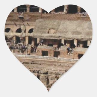 Adesivo Coração construção antiga do crumble