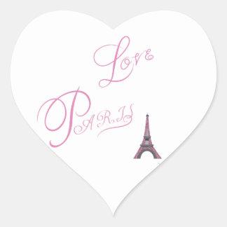 Adesivo Coração Cor-de-rosa-Amor-Paris-Eiffel-Torre-Original