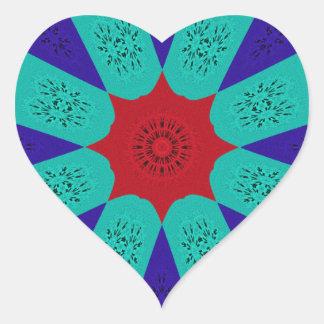 Adesivo Coração Cor feminino egípcia surpreendente bonita do