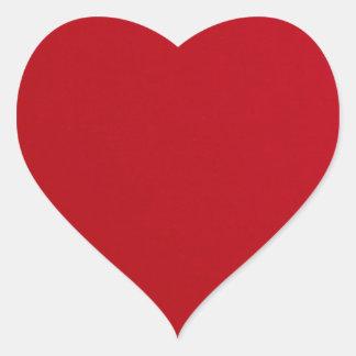 Adesivo Coração Cor vermelha lisa