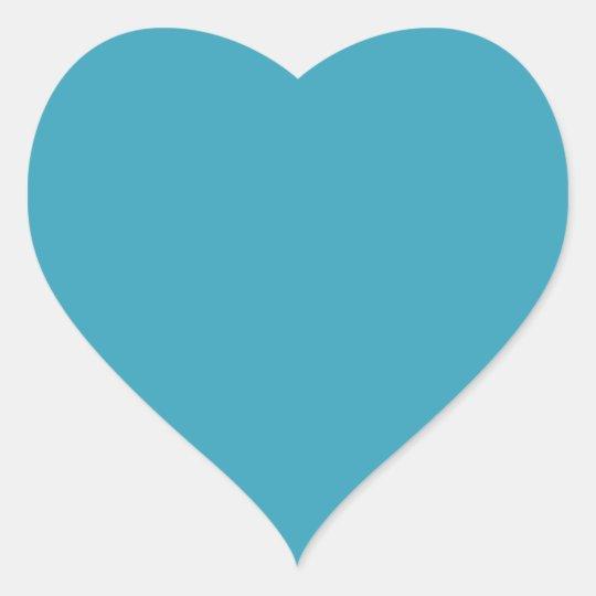 Aparador De Madeira Branco ~ Adesivo Coraç u00e3o Coraç u00e3o azul do fundo da cerceta lisa dado forma Zazzle com br