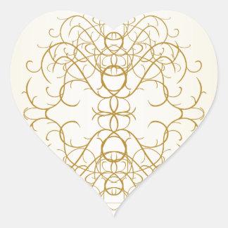 Adesivo Coração Coração bonito do enfeite do rico do ornamentado