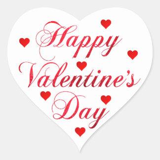 Adesivo Coração Coração branco vermelho do brilho do feliz dia dos