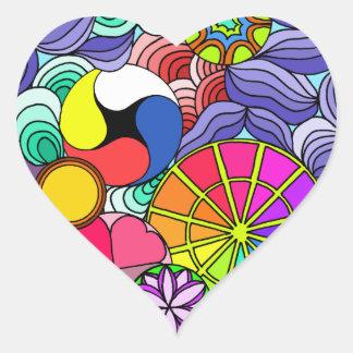 Adesivo Coração Coração da mandala da terra