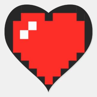 Adesivo Coração coração de 8 bits (cheio)
