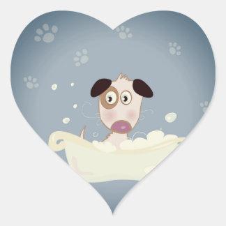 Adesivo Coração Coração de papel - cão dado forma