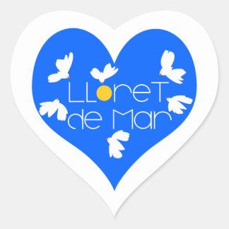 Adesivo Coração Coração do azul da lembrança de Lloret de Mar