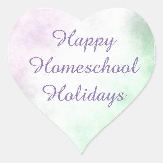 Adesivo Coração Coração dos feriados de Homeschool