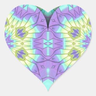 Adesivo Coração Coração festivo vibrante do Pastel 3d dado forma
