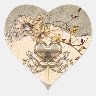 Adesivo Coração Coração maravilhoso com flores