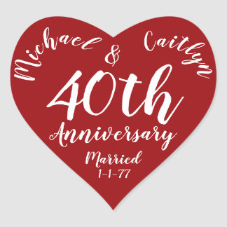 Adesivo Coração Coração personalizado festa de aniversário da data