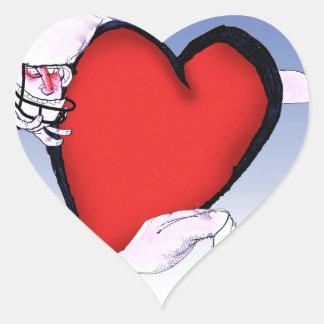 Adesivo Coração coração principal de North Dakota, fernandes tony