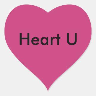 Adesivo Coração Coração U