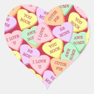 Adesivo Coração Corações dos doces do dia dos namorados