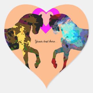 Adesivo Coração Corações e cavalo dos miúdos na laranja