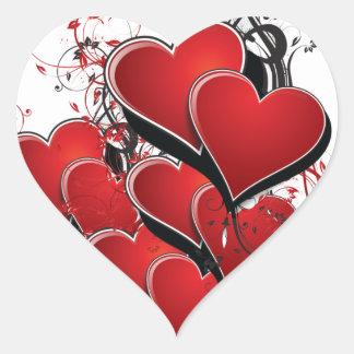 Adesivo Coração Corações no fogo