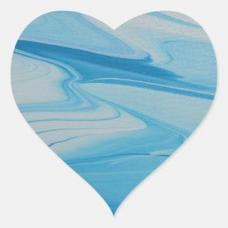 Adesivo Coração Córrego de jato