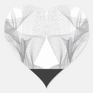 Adesivo Coração Crânio abstrato do urso