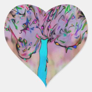 Adesivo Coração crescimento selvagem