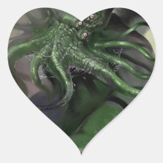 Adesivo Coração Cthulhu cavalo-força de aumentação Lovecraft