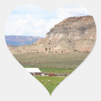 Adesivo Coração Cultivando o país e as colinas, Utá do sul