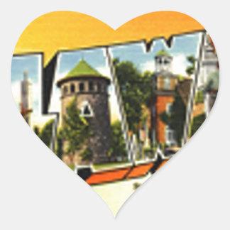 Adesivo Coração Cumprimentos de Delaware