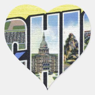 Adesivo Coração Cumprimentos de Michigan