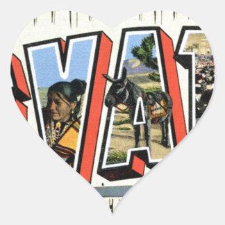 Adesivo Coração Cumprimentos de Nevada
