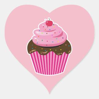 Adesivo Coração Cupcake