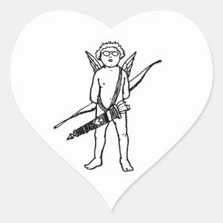 Adesivo Coração Cupido no 💘 dos eyeglasses