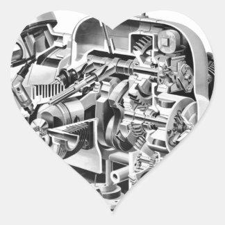 Adesivo Coração Cutaway do Airhead