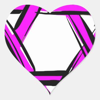 Adesivo Coração david