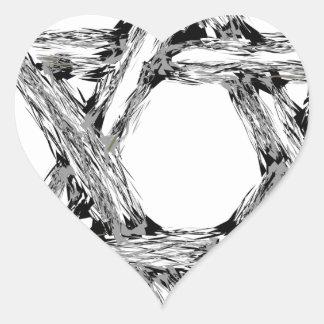 Adesivo Coração david4
